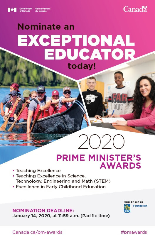 Prime Minister's Awards: Nominate an Exceptional Teacher | Greater St.  Albert Catholic Schools